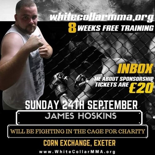 James Hoskins is raising money